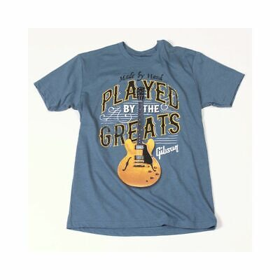 Gibson T-shirt Played By The Greats Indigo S