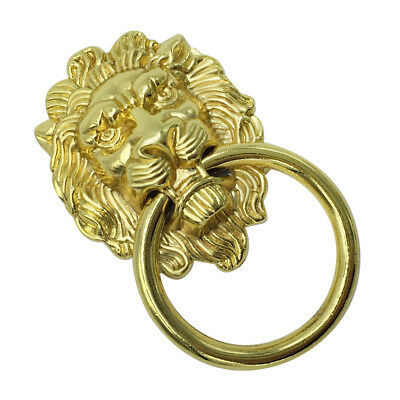 Lion Head Shape Pull Handle Door Cabinet Drawer Knob Furniture Decor _Gold_L