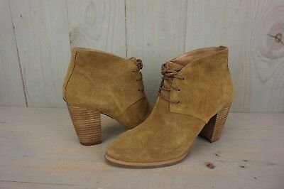 ab4491e11c0 Ugg Mackie Chestnut Suede Lace Up Ankle Booties Womens Boots Us 7 New