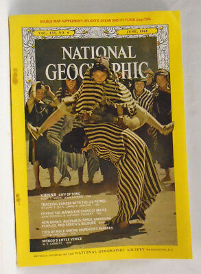 National Geographic magazine June 1968 Vienna Ice patrol Maine Morocco Mexico