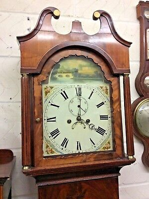 Antique Longcase, Good Working Order But Needing Case Repairs....a Bargain.