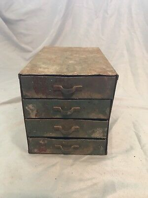 Vintage Antique Metal Brawrr Cabinet Small