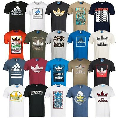 Adidas T-Shirt Herren Shirt Originals Trefoil Logo Shirts 3 Stripes Tee NEU  WoW
