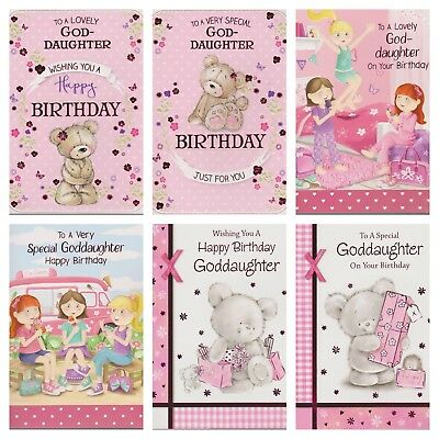 Goddaughter Happy Birthday Card Various Designs 1st Pp Greeting