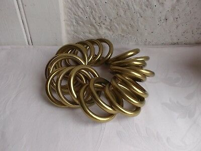 French vintage patina brass  curtain rings set of 20 simple classic