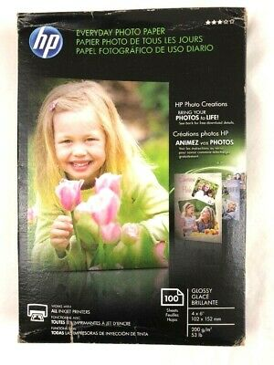 HP Photo Paper 100 Sheets 4x6 Glossy CR759A
