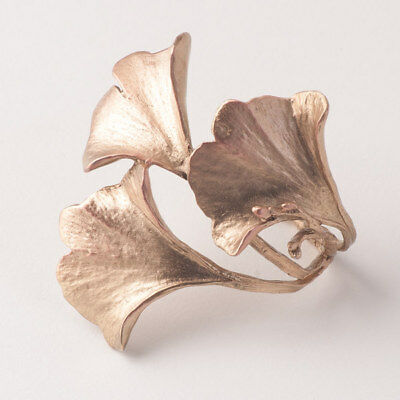 Ginkgo Leaf Napkin Rings - Michael Michaud Table Art - Gingko / Ginko