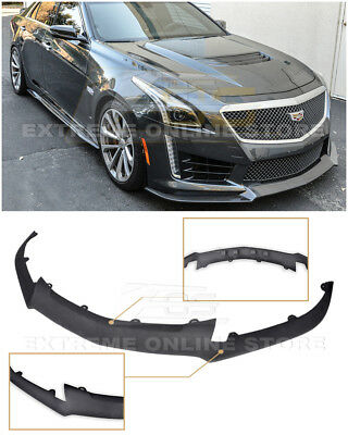EOS CARBON Package ABS Plastic Primered Front Splitter For 16-Up Cadillac CTS-V