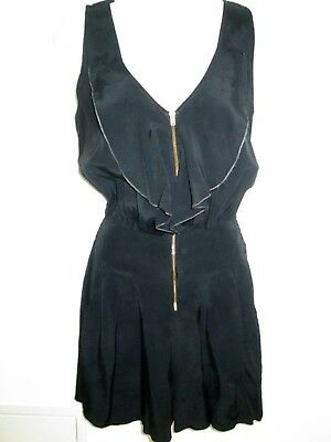 Miss Selfridge Black Ruffle Playsuit 90's Look, Both Smart & Grunge Potential 10