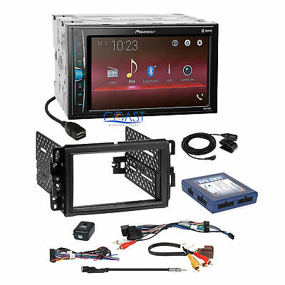 Pioneer 2018 USB Multimedia Stereo 2Din Dash Kit OnStar Bose SWC Harness for GM