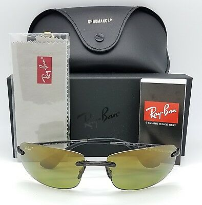 43eaae45e5 NEW Rayban Sunglasses RB4254 621 6O Black Green HD Chromance Polarized  rimless
