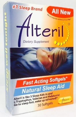 Alteril Natural Sleep Aid Softgels, 30 Ct (4 Pack)