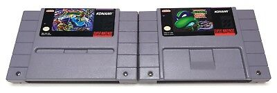 SNES TMNT 4 TMNT IV: Turtles in Time + TMNT Tournament Fighters *Authentic* #2