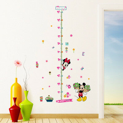 MICKEY MINNIE Growth HEIGHT CHART Wall Art Sticker Cartoon Kids Girls Boys