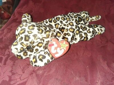 Pristine with Mint Tags TY Beanie Baby Retired FRECKLES the Leopard PE Pellets