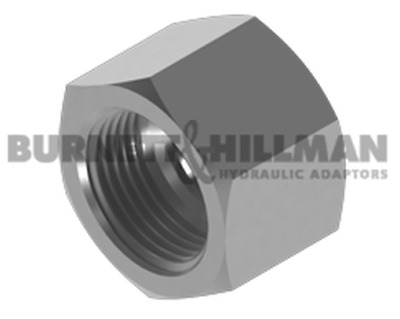 "Burnett & Hillman SAE 5/8"" Fixed Female Cap Hydraulic Fitting"