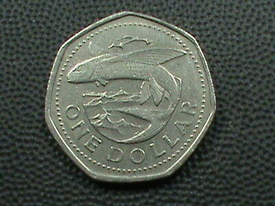BARBADOS   1 Dollar   1989   ,   $ 2.99  maximum  shipping  in  USA