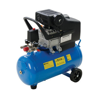 Silverline DIY 2hp Air Compressor 1500W 24Ltr