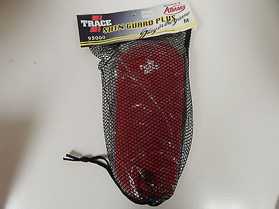 Trace by Adams Red Shin Guard Plus Red Size Medium Style # 95000