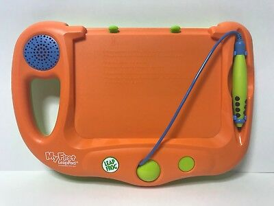 Leap Frog My First Leap Pad Orange W/ Leap's Big Day Book TESTED