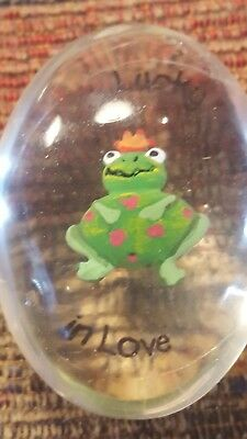 Lucky In Love Mini Frog Clear Oval