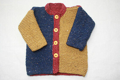 Knitting Kit- Garter stitch Jacket - Aust. Wool and pattern- 6m to 2yrs- easy