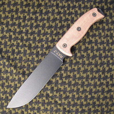 "Ontario Knives RAT-7 Survival Knife 7"" -1095 Carbon Steel-camping/survival/hunt"