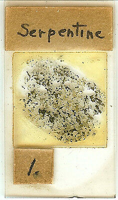 Serpentine Petrographic Microscope Slide for Polariscope