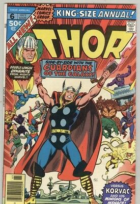 Thor #6 1977 FN Guardians of The Galaxy, King Size