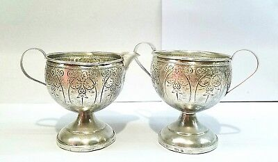 Vintage Hamilton Sterling silver weighted creamer and sugar bowl