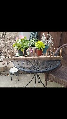 Antique Primitive Rustic Vintage Wood Hay Rake Head Farm Tool Herb Hanger
