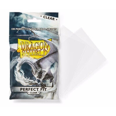 Sleeves – Dragon Shield Perfect Fit 100/pack Clear – Accessories Arcane Tinmen
