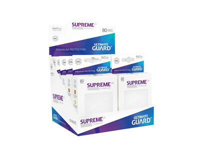Sleeves Ultimate Guard Supreme UX Sleeves Standard Size Solid White (80)Accessor