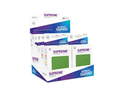 Sleeves Ultimate Guard Supreme UX Sleeves Standard Size Solid Green (80)Accessor