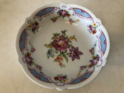 Vintage German Porcelain Floral Decorated Bowl