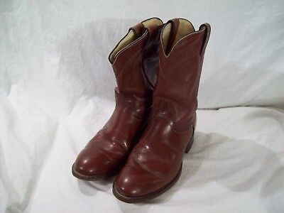 08f600e6ff7 WRANGLER BROWN LEATHER Vintage Cowboy Boots Mens Size 6 D Style ...