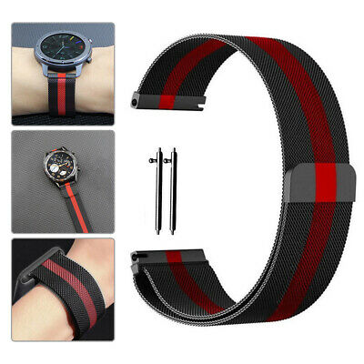 Milanese Loop Magnetic Mesh Watch Band Quick Release Black Metal Strap18 20 22mm