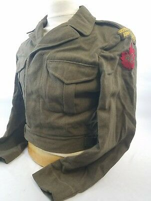 WW2 WWII Royal Canadian Army Cadets Ike Jacket,Uniform,Coat,Wool,Original,Rare