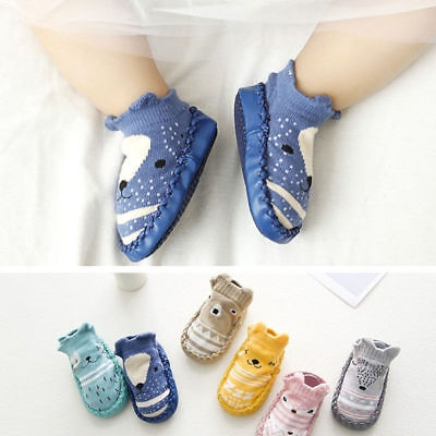 Prewalker Cute Baby Shoes Socks Soft Kids Slipper Sole Newborn Boots Anti-slip
