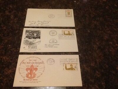 Boy Scout First Day Covers 1960