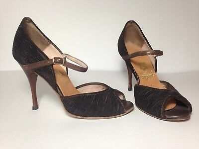 Comme Il Faut Tango Shoes Handcrafted Buenos Aires Brown Size 7