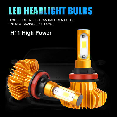 1150W H11 H8 H9 172500LM Auto CREE LED Headlight Bulbs 6000K White Lamps Kit 2x