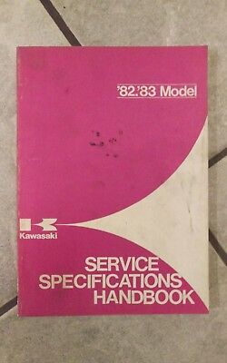 1982 1983 Kawasaki Service Specifications Handbook all motorcycles/ATVs/UTVs OEM