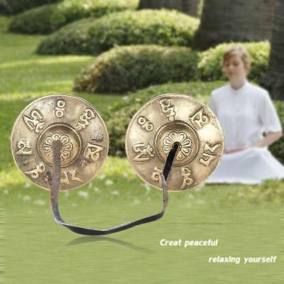 2.6in/6.5cm Metal Tingsha Cymbal Bell for Buddhism Meditation N4Z9