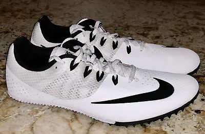 online store 43597 8314c NIKE RIVAL S 8 White Black Sprint Track Spikes Shoes NEW Mens Sz 11