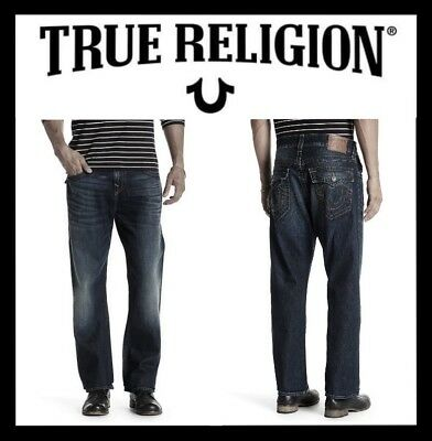 0f03fa3b2 True Religion Ricky Flap Athletic Fit Relaxed Straight Leg Sz 29 (New) Msrp   229