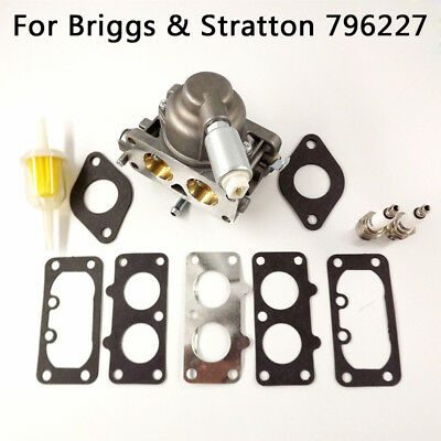 Carburetor Carb + Gaskets Kit Component For Briggs & Stratton 796227 Easy-Uesd