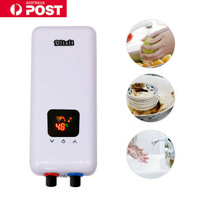 Bathroom Instant Electric Tankless Hot Water Heater System Under Sink Faucet AU