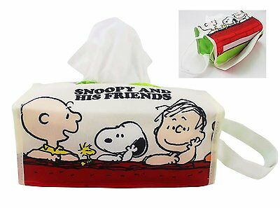 SNOOPY HUG Hanging Table Tissue Box Cover for Home or Car yellow