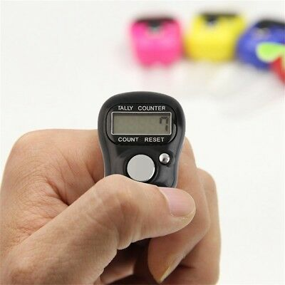 Mini LED Digit LCD Electronic Digital Golf Finger Hand Ring Tally Row Counter DE